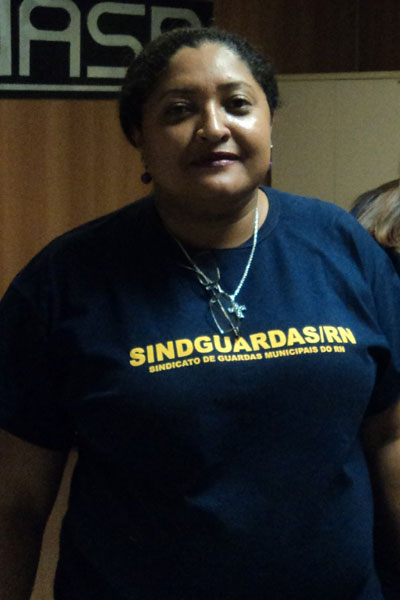 Margareth Lima, presidente do Sindguardas/RN