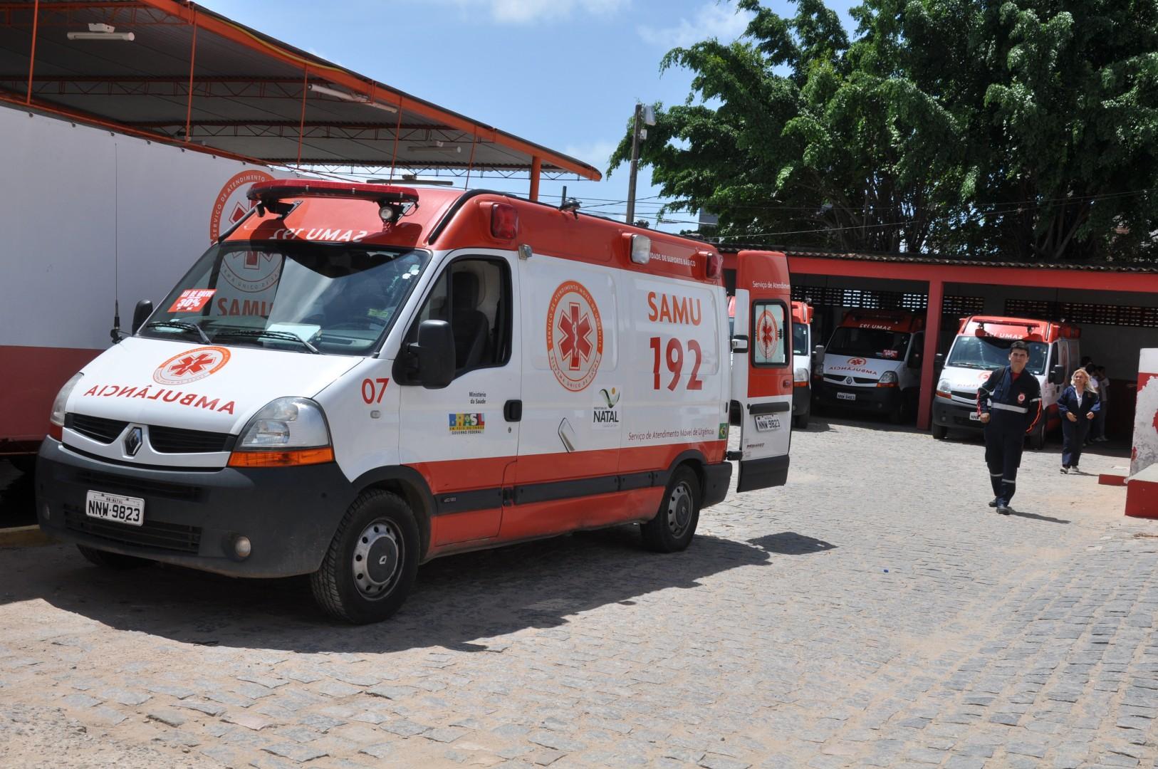 Das 12 ambulâncias do SAMU Natal, apenas cinco funcionam a partir de hoje