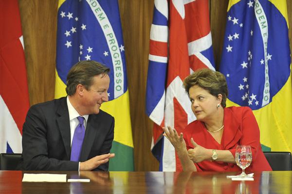 Visita de David Cameron ao Brasil tem como foco o aumento do comércio entre os dois países