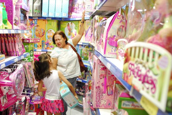 Loja em Natal: o Dia das Crianças rende 35% do faturamento anual do setor especializado em brinquedos