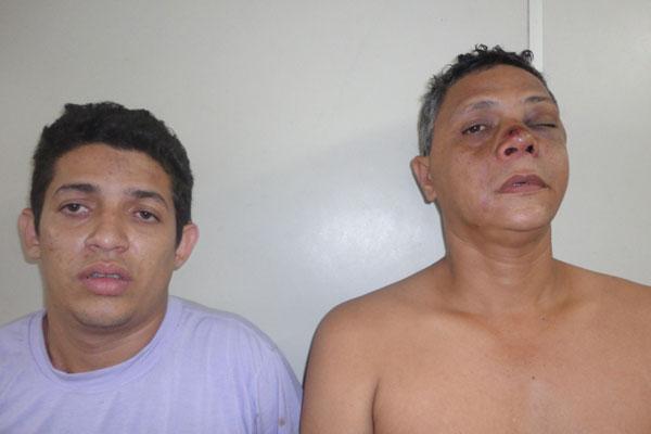 Messias Araújo da Silva e Eriberto Rocha do Nascimento foram presos pela Polícia Civil