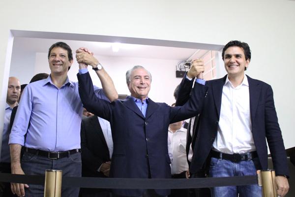 Fernando Haddad recebe apoio dos peemedebistas em São Paulo