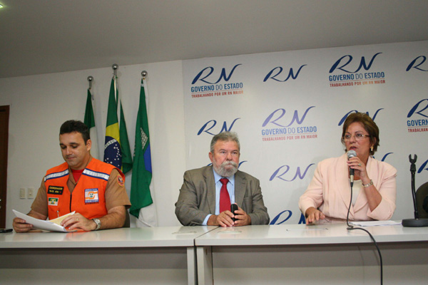 Governadora Rosalba Ciarlini apresentou dados em coletiva