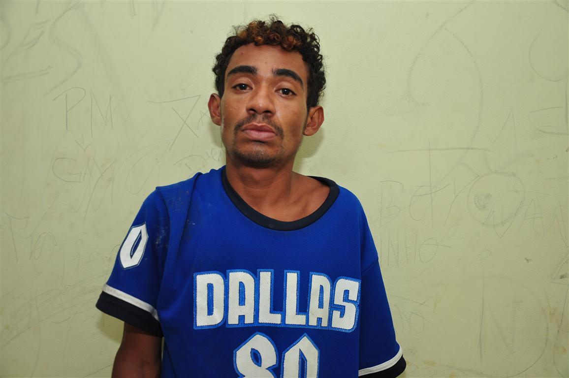 Genilson Lopes da Costa, preso por porte ilegal de armas e tráfico de drogas no Passo da Pátria
