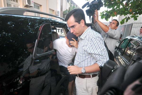 Promotor chegou ao Itep para realizar exames acompanhado do advogado