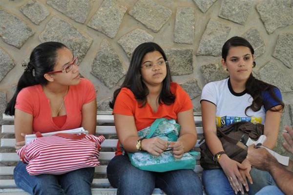 Luana Barbosa, Jábine Talitta e Ranayanne Suylane fazem licenciatura