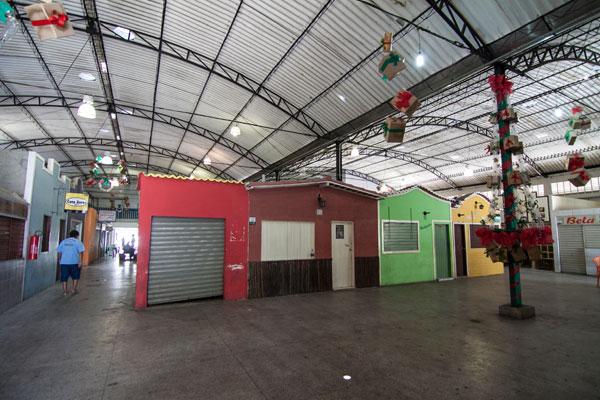 Mesmo após reforma, o Mercado de Petrópolis não conseguiu atrair público e passa por dificuldades
