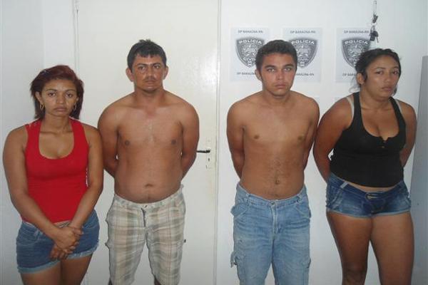 Na ordem da esquerda para direita: Francisca, Cícero, Berego e Kelly