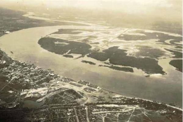 Estuário do rio Potengi, em 1920, base de pouso de hidroaviões