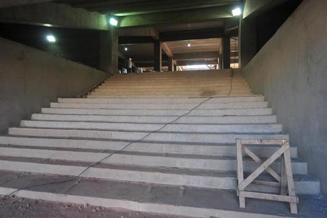 O túnel de acesso dos jogadores já foi concluído pela construtora