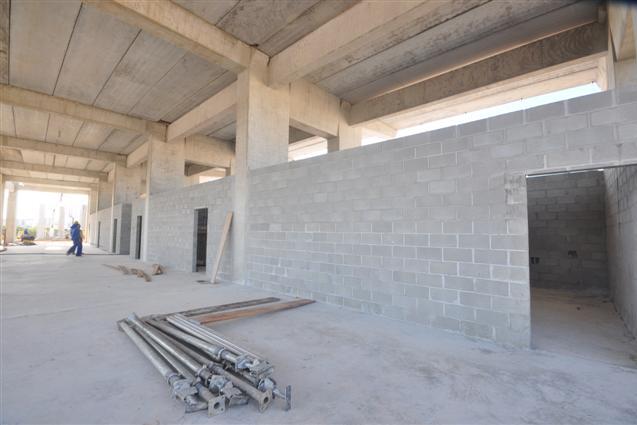 Os banheiros dos diversos setores começaram a ser construídos