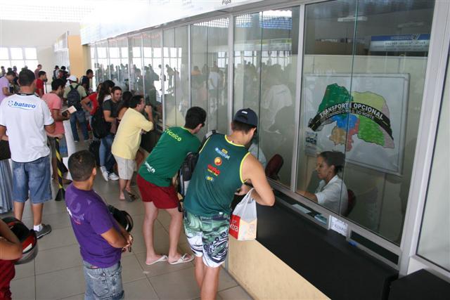 Movimentação de passageiros no Terminal Rodoviário da Cidade da Esperança