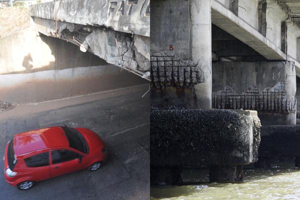 Ponte de Igapó e túnel de Neópolis têm sinais de desgaste e corrosão