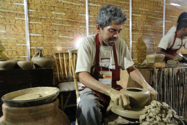 José de Santana é presidente da Cooperativa de Produção Artesanal do Potengi em São Gonçalo do Amarante