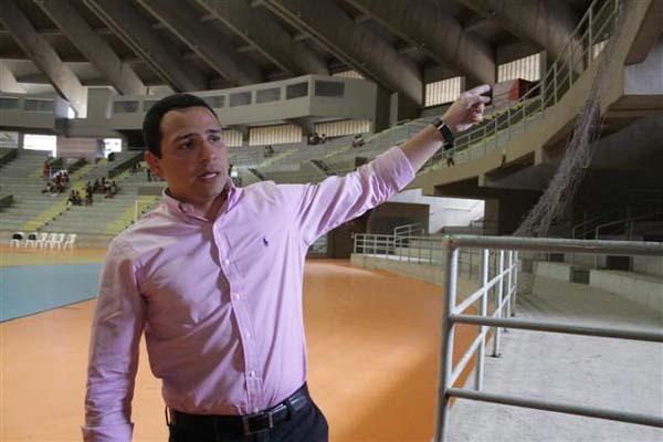 Segundo o secretário, o Palácio dos Esportes está ali para receber competições de nível médio