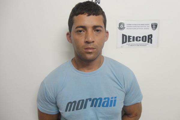 Gilmar da Cruz Silva foi capturado no Rio de Janeiro ontem quando estava trabalhando