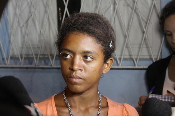 Jorcinara falou com a imprensa após ter sido libertada do cárcere privado