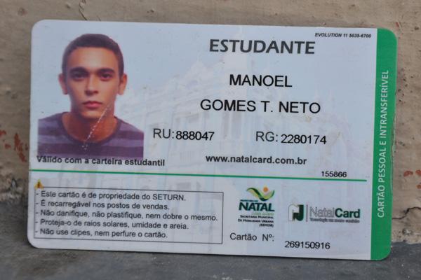 Manoel Gomes Teixeira Neto é filho de Wober de Souza Teixeira, vereador em Espírito Santo
