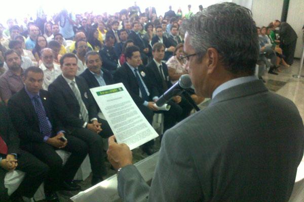 Representantes do MP participaram, na manhã de hoje (12), do ato público na ALRN contra PEC-37