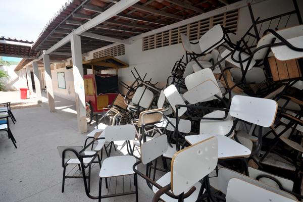 Escola Municipal Francisca Freire, em Guamaré, é o reflexo da falta de investimento em educação