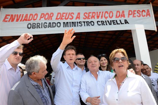Ministro da Pesca, Marcelo Crivella visita a colônia de Pescadores no município de Nísia Floresta