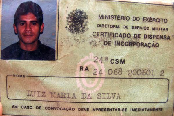 Luiz Maria da Silva, foi estrangulado por ciúmes