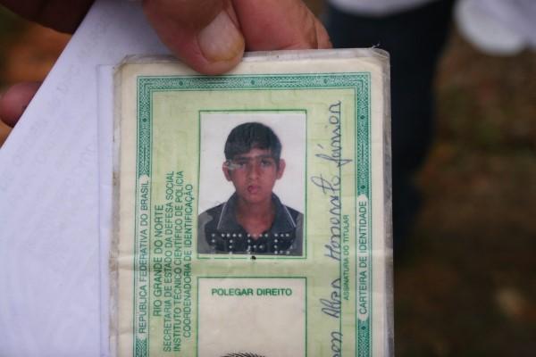 Janilson Alves Honorato Júnior, estudante, também foi vítima do acidente ocorrido nessa madrugada em Tangará