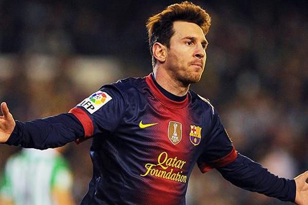Messi vem sofrendo com a coxa direita desde as quartas de final da Liga dos Campeões da Europa