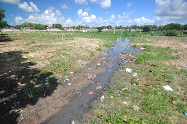A lagoa mais problemática é a do Loteamento Nova República, com ligações clandestinas de esgoto