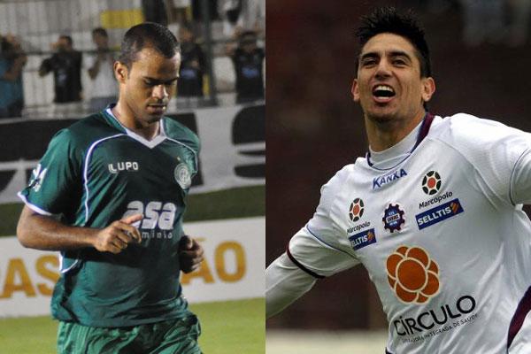 Júnior Negão (E) e Rafael Santiago serão os novos atacantes do futebol potiguar