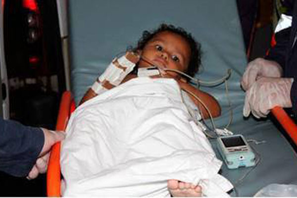 Deyse Kelly, de 2 anos, morreu horas depois de ter sido liberada no Hospital Tarcísio Maia