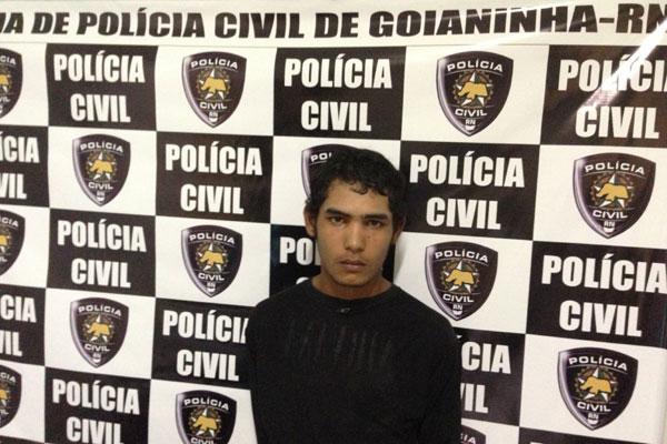 Francisco Duarte dos Santos, 18 anos, é acusado de matar um homem a facadas em Goianinha