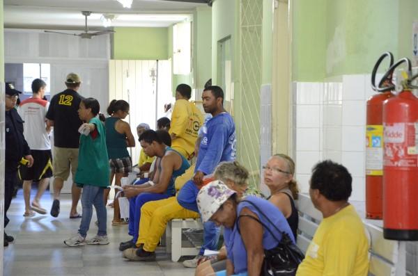 Parte dos funcionários esteve no Hospital dos Pescadores
