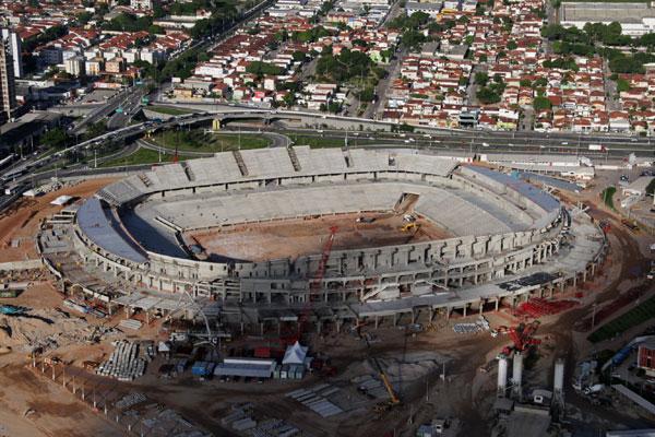 O setor de arquibancada da Arena das Dunas falta apenas receber o módulo removível, de responsabilidade do Governo estadual