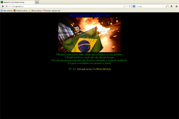 O site da Assembleia Legislativa do RN foi hackeado