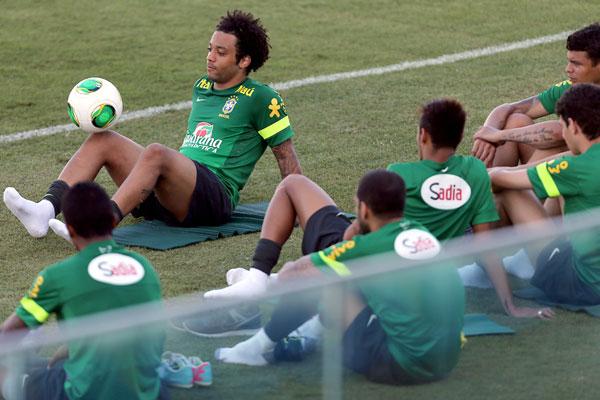 O ala Marcelo foi um dos defensores do futebol de resultados