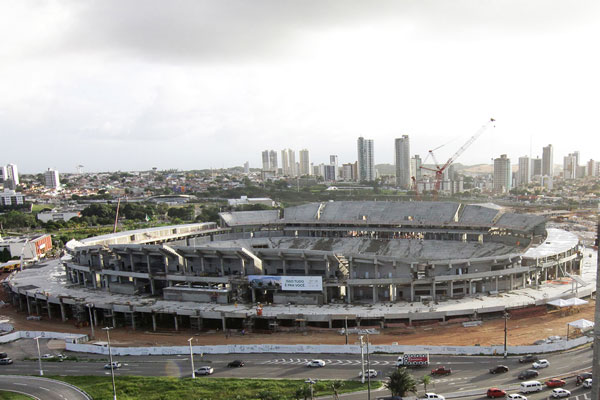 Arena das Dunas estaria atrás apenas do estádio do Corínthians na corrida pela conclusão