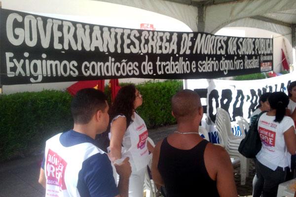 Manifestantes querem uma reunião com o governo que resulte em sinalizações positivas