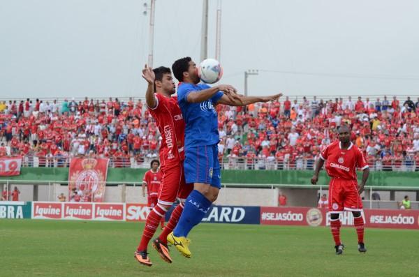 O América venceu de virada o São Caetano por 2 a 1 na partida que marcou o retorno do alvirrubro ao Nazarenão