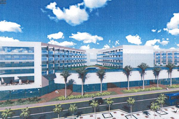 Imagem mostra como ficaria o hotel Reis Magos, de cara nova: Três prédios seriam construídos