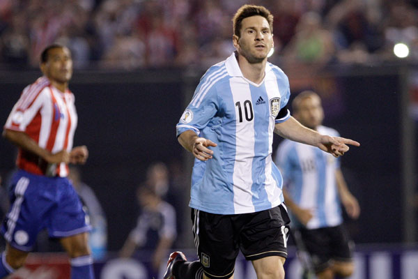 Lionel Messi garantiu a vaga da Argentina com dois gols