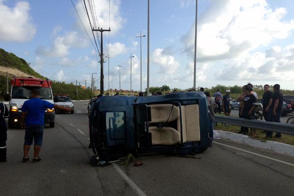 Marcel Correia perdeu o controle do veículo na Via Costeira, em Natal