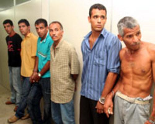 CURR�CULO - Quatro dos presos t�m mandados de pris�o