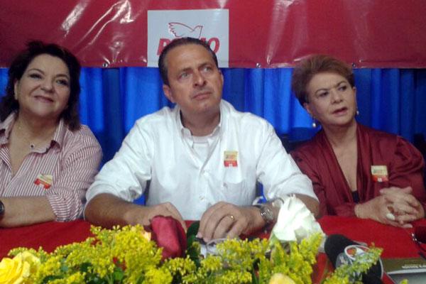 Sandra Rosado e Wilma de Faria acompanham Eduardo Campos em encontro do PSB
