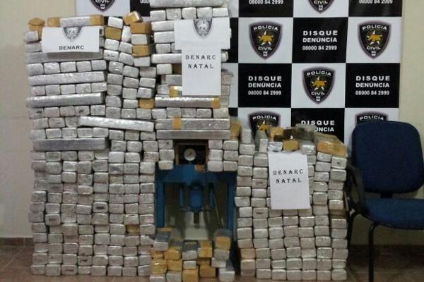 A ação da Denarc fez a maior apreensão de maconha e cocaína do RN em 2013
