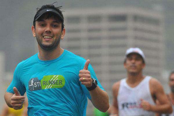 O contador, Frederico Almeida, revela que teve que mudar hábitos para começar a correr