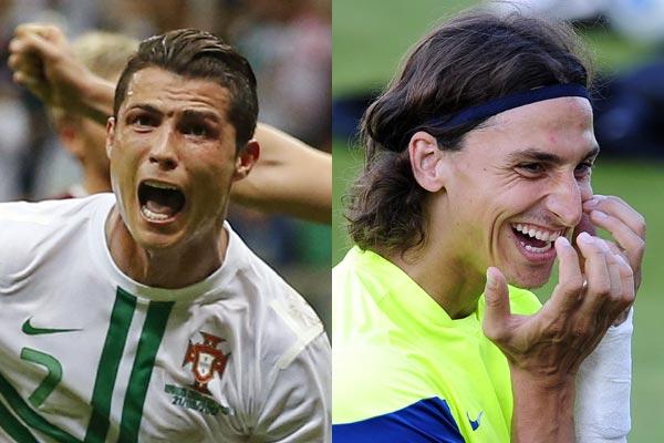 Cristiano Ronaldo e Ibrahimovic farão principal confronto da repescagem europeia