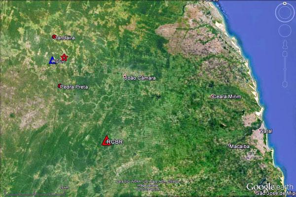 Epicentro do tremor foi localizado na região entre Pedra Preta e Jandaíra