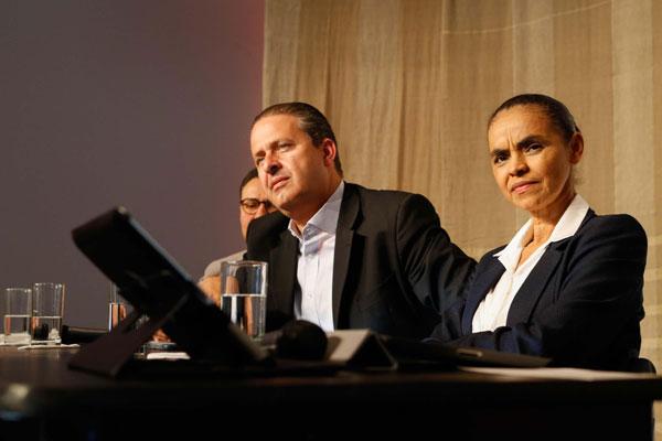 Governador de Pernambuco Eduardo Campos e ex-senadora Marina Silva abrem o primeiro encontro entre militantes do PSB e da Rede