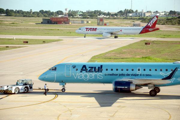A Azul anunciou mais um voo para Natal e a TAM um total de 46: reforço na alta temporada